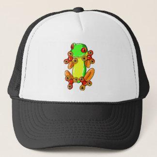 Frog spinner trucker hat