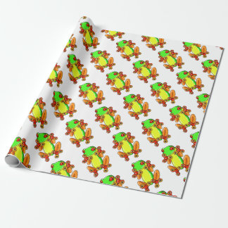 Frog spinner wrapping paper