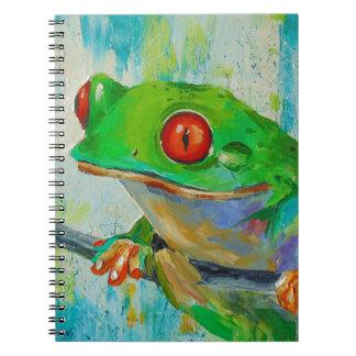 Frog Spiral Notebook