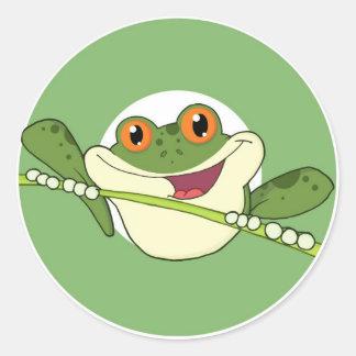 Frog Spot Classic Round Sticker