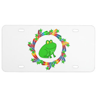 Frog Stars License Plate