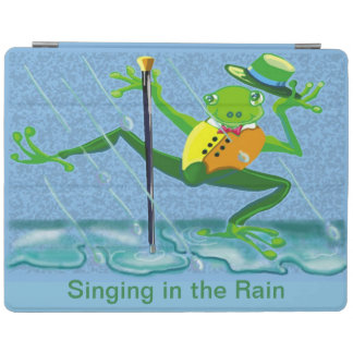 Frog tap dancing in the rain iPad cover