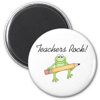 Frog Teachers Rock 2 Inch Round Magnet