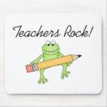 Frog Teachers Rock Mouse Pads