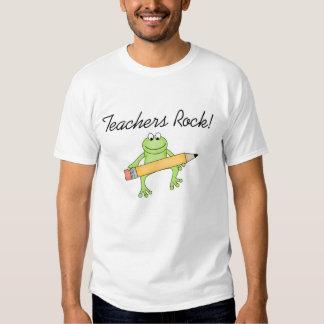 Frog Teachers Rock T Shirt