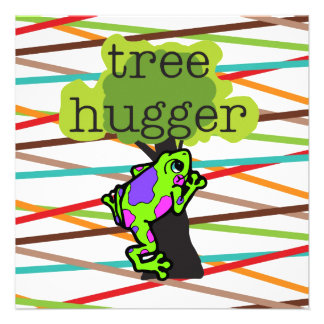 Frog Tree Hugger T-shirts and Gifts Custom Invites