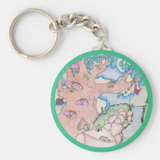 Frog Treehouse Family Reunion Keychain