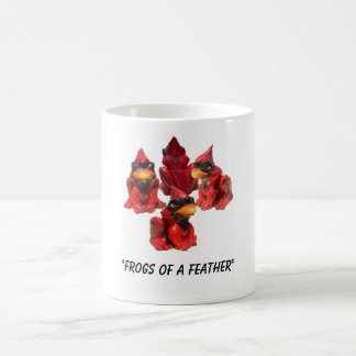 "Frog View ...., ""Frogs of a Feather"" Coffee Mug"