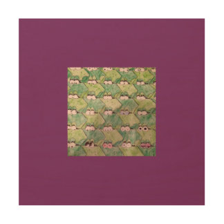 Frog Wall Art Wood Canvases