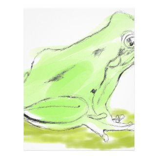 Frog water color letterhead