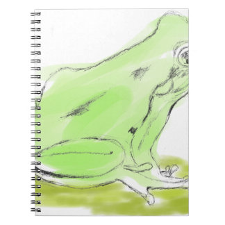 Frog water color notebook