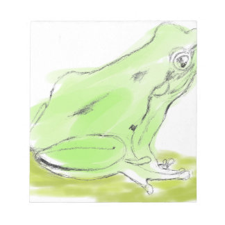 Frog water color notepad