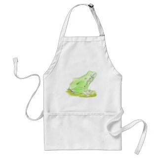 Frog water color standard apron