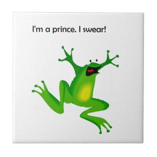 Frog Who Thinks He's a Prince Cartoon Tile