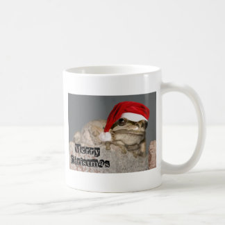 Frog with a Santa Hat Coffee Mug