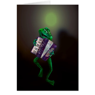 Frog with Accordion 4 Card