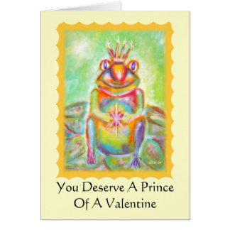 Frog With Prince Potential Valentine's Day Card