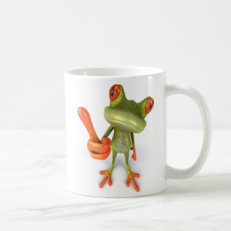 Frog with thumbs up ! coffee mug
