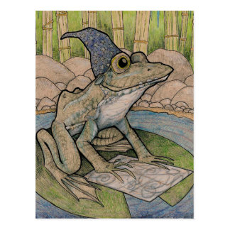 Frog Wizard Postcard