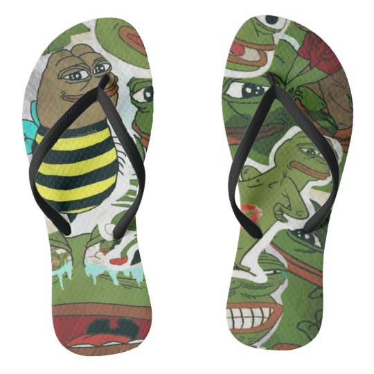 Froge Collage Flip Flops