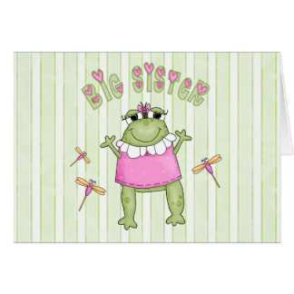 Froggie Big Sister Note Card