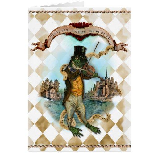 Froggie est allé poursuite d'A Cartes De Vœux