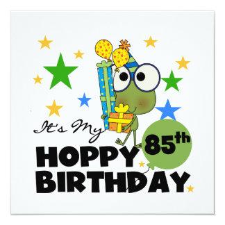 Froggie Hoppy 85th Birthday Invitation