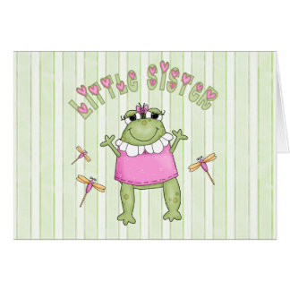 Froggie Little Sister Note Card