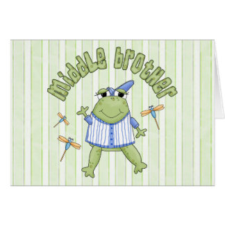 Froggie Middle Brother BG Note Card