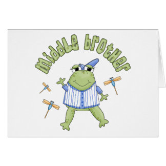 Froggie Middle Brother Note Card