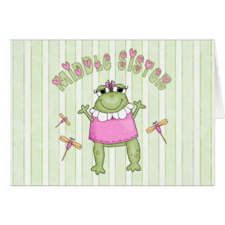 Froggie Middle Sister Greeting Cards