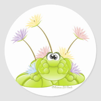 Froggie n Lilies stickers