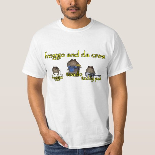 froggo and da crew band tee | Zazzle.ca