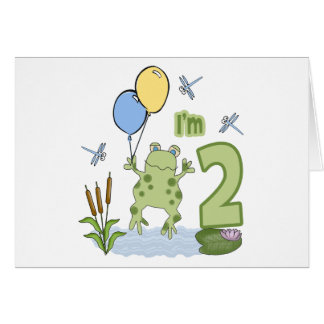 Froggy 2nd Birthday Invitations Note Card