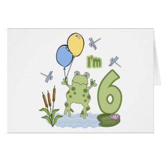 Froggy 6th Birthday Invitations Card