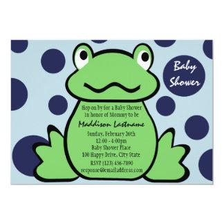 "Froggy Baby Shower 5"" X 7"" Invitation Card"