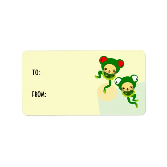 froggy dance label