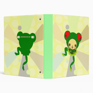 froggy dance vinyl binder