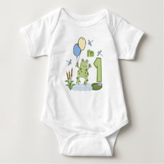 Froggy First Birthday Baby Bodysuit