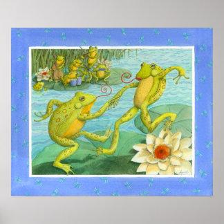 Froggy Fling Illustration Print