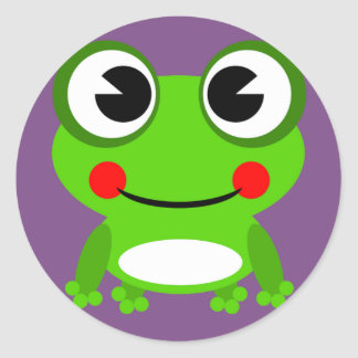 Froggy frog frog classic round sticker
