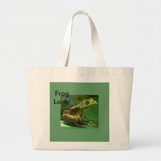 Froggy, Frog Lover Large Tote Bag