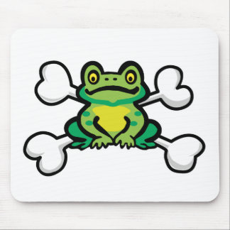 froggy frog Skull and Crossbones Mouse Pad