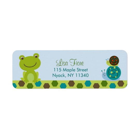 Froggy Frog Snail Baby Shower Address Labels