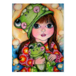Froggy Fun - Ribbit - Frog Design Post Card