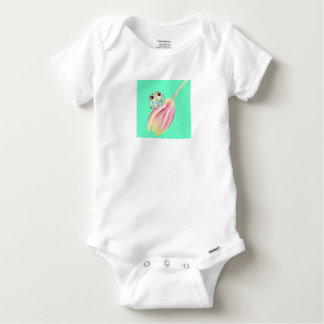 Froggy green baby onesie