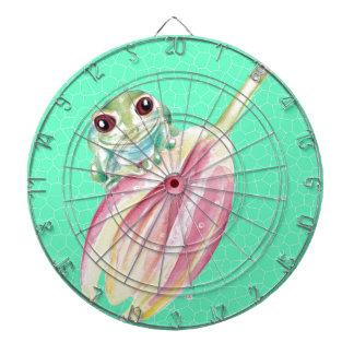 Froggy green dartboard
