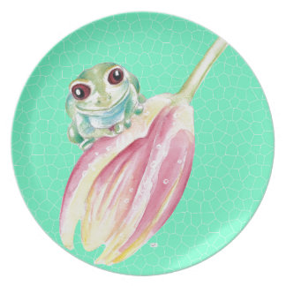 Froggy green plate