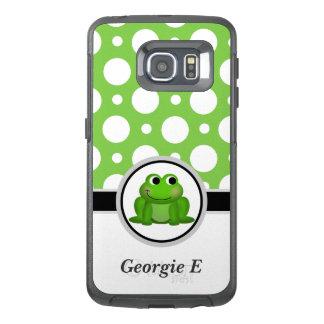 Froggy Green Polka Dot Samsung Galaxy S6 Edge Case