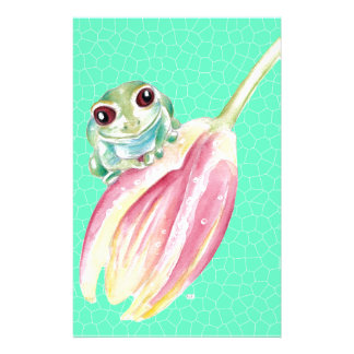 Froggy green stationery
